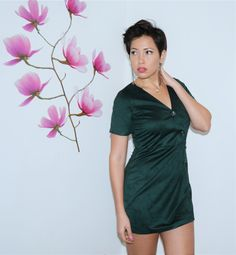 Mini vestido verde
