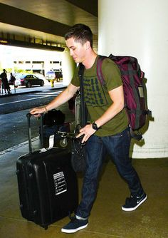 logan at lax today, 8/11/13