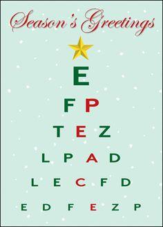 98 best medical cards images on pinterest in 2018 custom christmas christmas eye chart card glossy white 1823 m4hsunfo