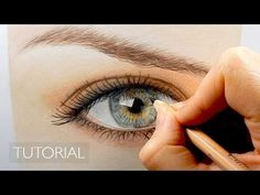 Tutorial | How to draw a realistic eye with colored pencils | Emmy Kalia - YouTube