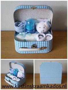 Kraamkoffer Slaapbeertje blauw