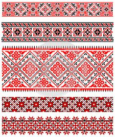 Ukrainian Embroidery Ornament Stock Vector – Illustration of accent, design: 51245803 - Stickerei Ideen Embroidery Motifs, Embroidery Software, Cross Stitch Embroidery, Embroidery Designs, Cross Stitch Borders, Cross Stitching, Cross Stitch Patterns, Ukrainian Tattoo, Pixel Pattern