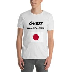 """Short-Sleeve Unisex T-Shirt Japan """"Guess where I'm from"""""""