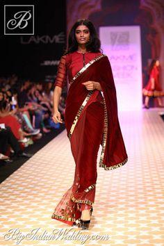 Archana Kochhar Lakme Fashion Week 2013   Lehengas  Sarees   Bigindianwedding