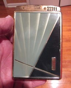 Art-Deco Style STAR-LITE CIGARETTE CASE AND LIGHTER - used - untested #StarLite