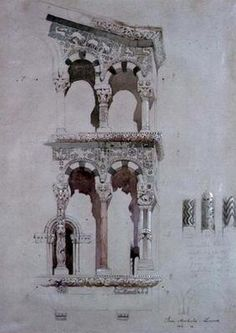 ruskin | John Ruskin - Detail of the facade of San Michele in Foro, Lucca, 1845 ...