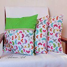 Úžitkový textil - Ná lúke plnej motýľov a čipka - 6697553_