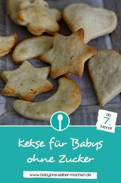 Rezept für Babykekse ohne Zucker: Mit nur 3 Zutaten Kekse für Babys selber machen.