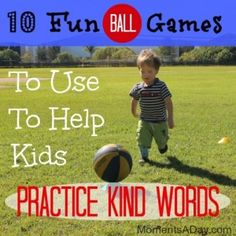 10 Fun Ball Games To Use To Help Kids Practice Kind Words from Moments a Day, socio-em Movement Activities, Learning Activities, Activities For Kids, Teaching Kids, Kids Learning, Kindness Activities, Kindness Projects, Preschool Games, Preschool Ideas