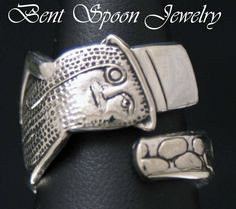 Spoon Ring, MR. PEANUT FUN  Novelty Spoon Ring  Silverware Jewelry, Size 8. $25.00, via Etsy.