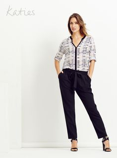 ALL OCCASION PANTS / They look great, feel great and best of all, fit any occasion. From classic straight-legged and tailored shapes to special waistband detailing, these are the new pant styles every wardrobe needs. New Pant Style, Feeling Great, Fashion Pants, Looks Great, Summer Outfits, Capri Pants, Outfit Ideas, Spring Summer, Shapes