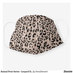 Animal Print Series - Leopard Dark - Cloth Face Mask Graphic Design Branding, My Animal, Snug Fit, Sensitive Skin, Color Combinations, Print Patterns, Dark, Color Palettes, Fonts