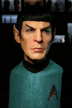 Spock Sculpture by Jordu Schell beyond amazing!!!