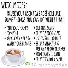 Witchy Tips: Reuse Tea Bags