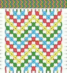 Friendship bracelet pattern #185 - Bracelet Book Friendship Bracelets Tutorial, Diy Friendship Bracelets Patterns, Bracelet Tutorial, Macrame Tutorial, Diy Bracelets Yarn, Cute Bracelets, String Bracelets, Macrame Bracelets, Ankle Bracelets