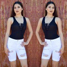 Drea Bodysuit $15.99 (Also available in indigo, Ivory, olive & taupe) Distressed Bermuda $28.99 #kylie #kyliejenner #kyliestyle #celebrityinspired #olive #bermudashorts #bermudas #lacedheels #ootd #outfitoftheday #ootn #outfitoftheday #slay #werk #suedebodysuit #bodysuit #leotard #onepiece #slayasperusual #statementnecklace #coachella #coachellastyle #coachellafashion #gypsy #gypsysoul #boutique #instastore