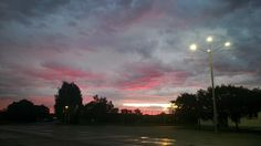 #Berlin #sunset #way # to# sports #skycolours #red