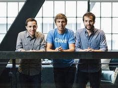 The founders of Clever met at Harvard. From left: Tyler Bosmeny, CEO; Dan Carroll, chief product officer; Rafael Garcia, chief technology officer.