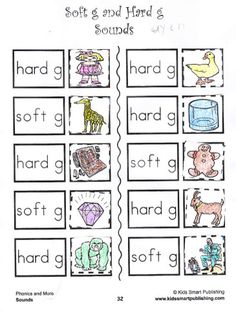 Printables Hard And Soft G Worksheets phonics worksheets kid and cut paste on pinterest kids love to learn with these fun worksheets