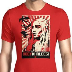 A Game of Thrones men's T-Shirt with the mother of dragons herself. $21.99