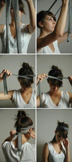DIY criss cross headband