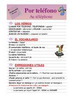 """Ficha VOCABULARIO """"Por teléfono"""""""