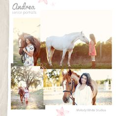 Senior with horse @Melody Gee White Studios