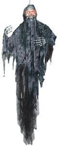 Hanging Black Reaper Prop - 298865 | trendyhalloween.com #halloween #halloweenprops #halloweendecorations #reaper #skeleton