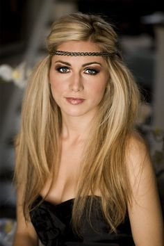 long hair updo for formal with head band on fore head | Braided Hippie Headband-0 : Hairstyles