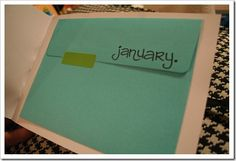 """a year of """"going out"""" by staying in. planned date nights- one a month- right at home. fun!"""