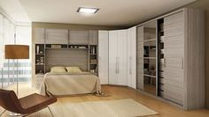 Ideas Bedroom Wardrobe Bed Doors For 2019 Bedroom Closet Design, Small Bedroom Designs, Bedroom Wall, Bedroom Decor, Sliding Wardrobe Doors, Sliding Doors, Small Rooms, Small Apartments, Living Furniture