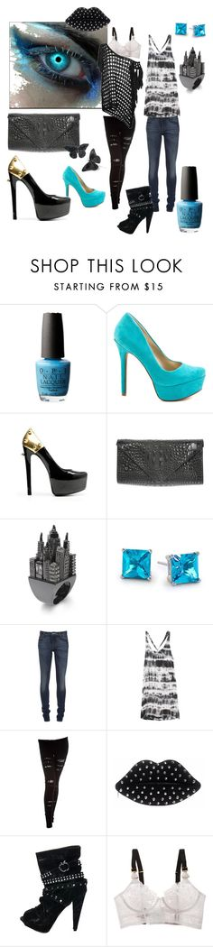 ELECTRIC NIGHT by labichaja on Polyvore featuring moda, AllSaints, Obesity and Speed, Acne Studios, Nightcap, STELLA McCARTNEY, Ruthie Davis, Jessica Simpson, J.J. Winters and Lulu Guinness