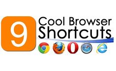9 Useful Browser Shorcuts [Infographic] Web Browser, Tech Logos, Infographic, Internet, Technology, Cool Stuff, Tech, Infographics, Tecnologia