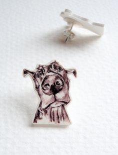#Great #Dane #Stud #Earings. #jewelry. #dog #art