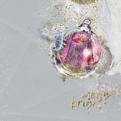 Une page de Noel avec le magnifique kit de NBK Design Be merry be bright Advent challenges Oscraps