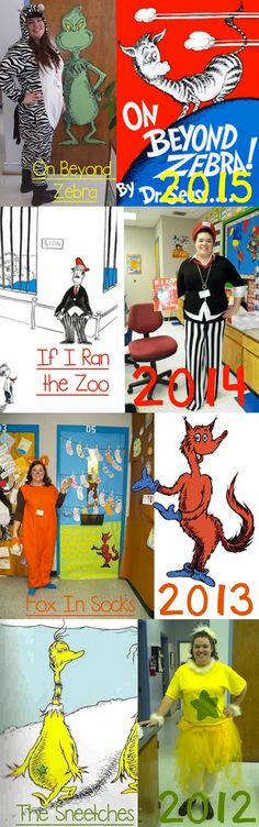 Dr. Seuss Dress Up, Book Character Dress Up, On Beyond Zebra, If I Ran the Zoo, Fox in Socks, The Snitches costumes