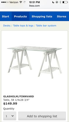 IKEA desk for craft room  sc 1 st  Pinterest : dillan chaise - Sectionals, Sofas & Couches