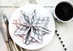 Stern falten aus einer Serviette | Weihnachten | DIY | Tischdeko