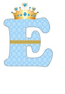 EUGENIA - KATIA ARTES - BLOG DE LETRAS PERSONALIZADAS E ALGUMAS COISINHAS: Alfabeto Realeza Azul Abecedario Baby Shower, Letras Baby Shower, Scrapbook Bebe, Deco Baby Shower, Diaper Bouquet, Free Baby Shower Printables, Baby Mickey, Bunting Flags, The Little Prince