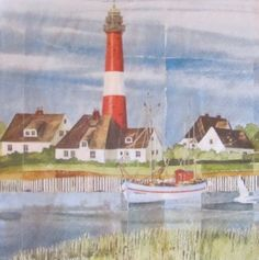 For decoupage Decoupage Art, Paper Napkins, Outdoor Decor, Painting, Crates, Sailing Ships, Nice Things, Light House, Napkins