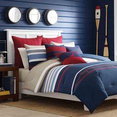 Nautica Bradford Reversible Cotton 3-piece Comforter Set - Overstock Shopping - Great Deals on Nautica Comforter Sets