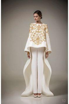 Buy 2016 Ashi Studio Gold Embroidery Long Sleeve Evening Dress A Line Pants Kaftan Satin Arabic Formal Dubai Abaya Pants Free From & Price; From Alberta_dress Couture Fashion, Hijab Fashion, Couture Style, Dress Fashion, Ashi Studio, Evening Dresses, Formal Dresses, Dresses 2016, Dresses Dresses