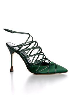 fall 2012, Manolo Blahnik, shoes, high heels, sandals, green