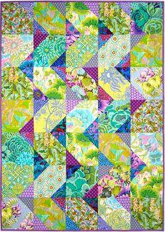 Cascade quilt pattern, Kaffe Fassett, Springleaf Studios, quilt pattern, aqua, color inspiration,