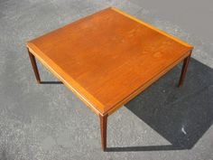 Vintage Danish Teak Wood COFFEE TABLE Danish Mid Century Modern Made in Denmark in Antiques, Furniture, Tables, Post-1950 | eBay