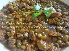 La Cocina de Sandra: Gandules Verdes Guisados con Carne de Cerdo