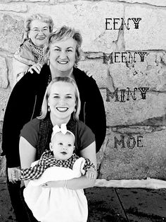 Fun multi-generational photo idea, Emma and I were both 5th living generations when we were born I hope one day to have a granddaughter and great granddaughter to do this with!
