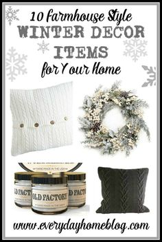 10 Farmhouse Style Winter Decor Items for Your Home | The Everyday Home | www.everydayhomeblog.com
