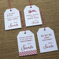 Christmas Santa Gift Tags designcorral.com