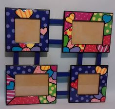 GALERIA ARTE Y DISEÑO & MADEKIDS: PORTARETRATOS FAMILIAR EN ESTILO BRITTO Diy Photo Frame Cardboard, Photo Frame Crafts, Diy Arts And Crafts, Fun Crafts, Crafts For Kids, Paper Crafts, Home And Deco, Diy Frame, Handmade Home
